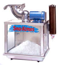 12 Volt batter snow cone machine