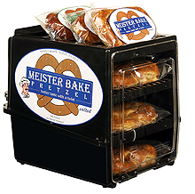 Soft Preztel merchandisers, warmers, and display cases.