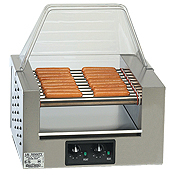 Top quality Gold Medal hot dog roller grills. Choose the size and accessories that is right for you.