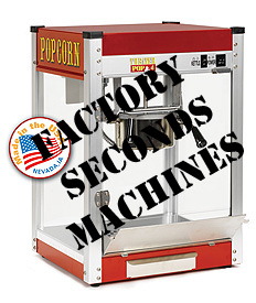 Factory Seconds popcorn machines