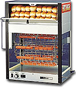 Hot dog broilers that put on a show. Watch the profits roll in as the hot dogs cook in plain view of the customers.