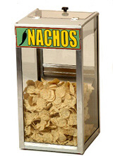 Combination nacho chip warmer