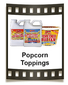 Featuring Odell's butter popcorn toppings, popcorn salt, seasonings and  so much more!
