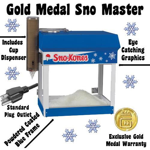sno master snow cone machine