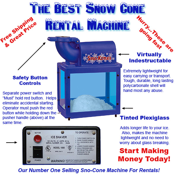 1888 snow cone machine