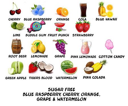 snow cone flavors
